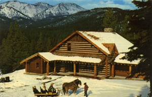 Winter comes to Ponderosa Ranch, Lake Tahoe, Incline Village, Nevada