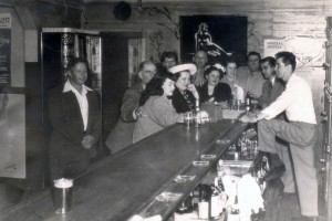 Mike behind Grotto Bar, Jack London Square, circa early 1960s